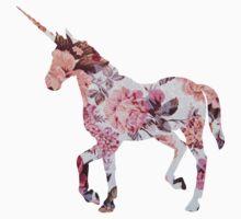 Floral Unicorn 1 Kids Clothes