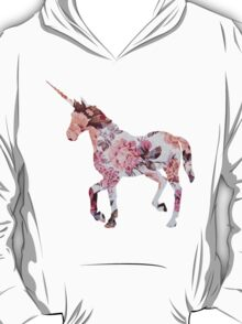 Floral Unicorn 1 T-Shirt