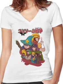 Console War Women's Fitted V-Neck T-Shirt