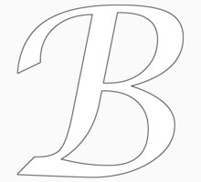 "Calligraphy Letter ""B"" One Piece - Short Sleeve"