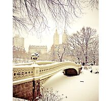 Winter in Central Park Photographic Print