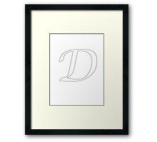 "Calligraphy Letter ""D"" Framed Print"