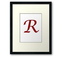 "Calligraphy Letter ""R"" Framed Print"