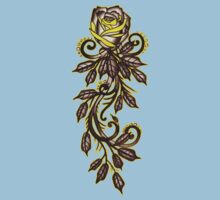 yellow rose tattoo art Kids Clothes