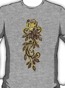 yellow rose tattoo art T-Shirt