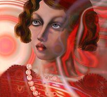 Candy Cane Girl, Ode to Tamara de Lempicka by Alma Lee