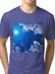 SUN SKY AND CLOUDS Tri-blend T-Shirt
