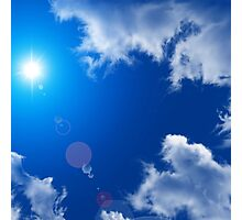 SUN SKY AND CLOUDS Photographic Print