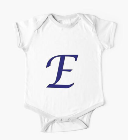 "Calligraphy Letter ""E"" One Piece - Short Sleeve"