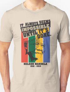 Nelson Mandela Tribute Shirt 2 (For Light Shirt) T-Shirt