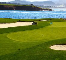 Golf green by the ocean by creativedesignz