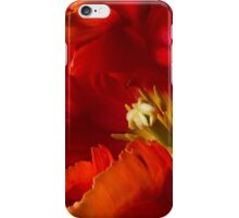 Tulipa 'Avignon Parrot' (dark). iPhone Case/Skin