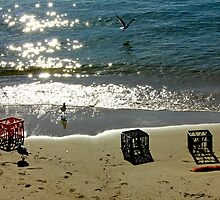 Milk Crates on Frenchman's Beach by Graham Sciberras