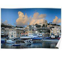 Santa Maria Church Mgarr Harbour -- Gozo  Poster