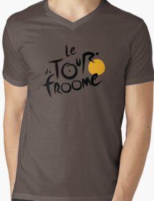 Le Tour du Froome (Black) Mens V-Neck T-Shirt