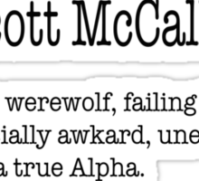 Teen Wolf - Scott McCall Sticker