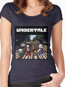Undertale - Abbey Road  Women's Fitted Scoop T-Shirt
