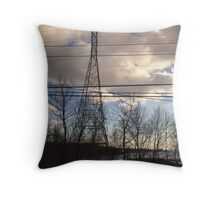 Train ride Throw Pillow