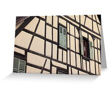 Timbered house, Alsace, France Greeting Card