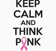 Keep calm and think pink Womens Fitted T-Shirt