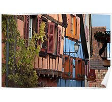 Colourful house in Alsace, France Poster