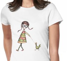 Why did the chicken cross the road? Womens Fitted T-Shirt