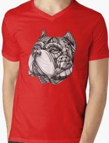 Ornate American Bully Mens V-Neck T-Shirt