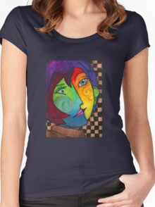 Picasso Portrait Women's Fitted Scoop T-Shirt