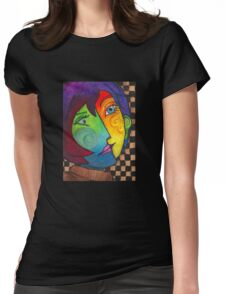 Picasso Portrait Womens Fitted T-Shirt