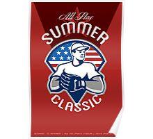 Baseball All Star Summer Classic Poster Poster
