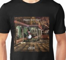 Happy New Year 2016 with Snowman Unisex T-Shirt