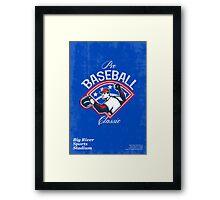 Pro Baseball Classic Tournament Retro Poster Framed Print