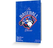 Pro Baseball Classic Tournament Retro Poster Greeting Card