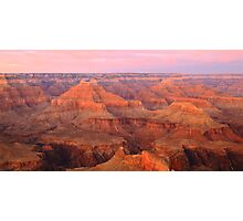 Pink Pastel Sky over the Grand Canyon Photographic Print