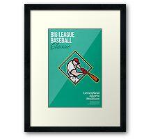 Big League Baseball Classic Retro Poster Framed Print