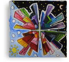 Small World; Big City. Canvas Print