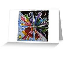 Small World; Big City. Greeting Card