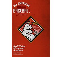 All American Baseball Classic Vintage Poster Photographic Print