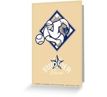 Baseball All Star Summer Classic Retro Poster Greeting Card