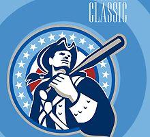 American Patriot Pro Baseball Classic Poster Retro by patrimonio