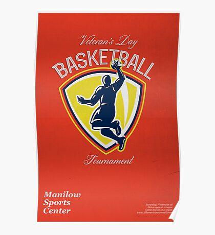 Veteran's Day Basketball Tournament Poster Poster