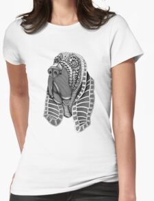 Ornate Bloodhound Womens Fitted T-Shirt
