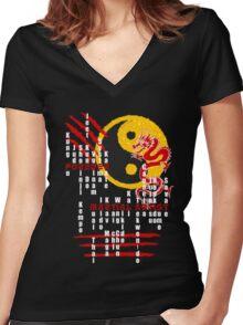 Forever Martial Artist - Dark Version Women's Fitted V-Neck T-Shirt