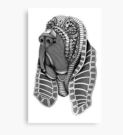 Ornate Bloodhound Canvas Print
