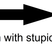 I'm With Stupid Sticker