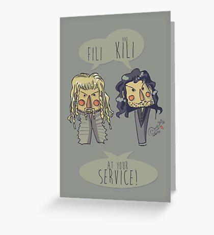 Fili and Kili Greeting Card