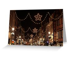 Christmas Lights in Colmar, Alsace, France Greeting Card
