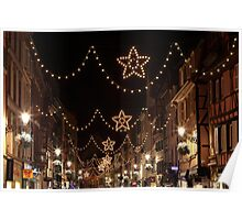 Christmas Lights in Colmar, Alsace, France Poster