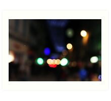 Nightlife in the City Art Print