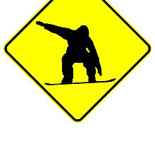 Snowboarder Crossing by kwg2200